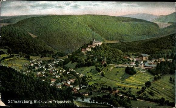 10 alte Ak Schwarzburg in Thüringen, diverse Ansichten 6