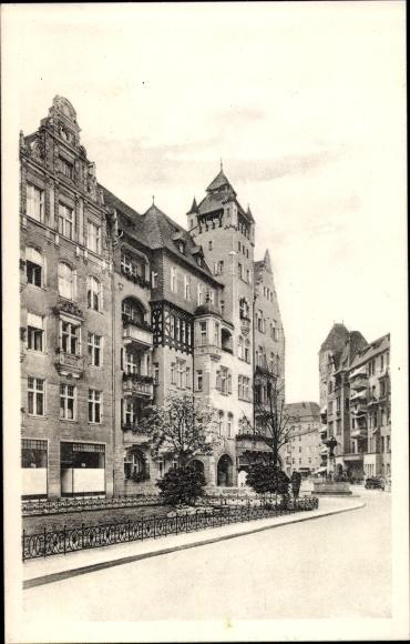 Ak Berlin Schöneberg, Haberlandstraße im Bayerischen Viertel, Wohnhäuser