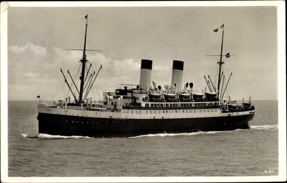 Ak Dampfschiff MS Monte Sarmiento, HSDG