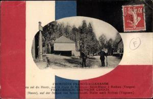 Passepartout Ak Senones St. Blaise Vosges, Deutsch französische Grenze, Rothau