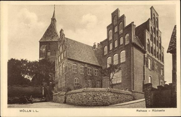 Ak Mölln im Herzogtum Lauenburg, Rathaus, Rückseite