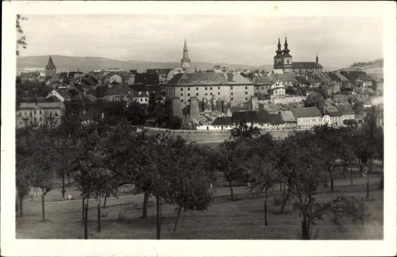 Ak Kadaň Kaaden Reg. Aussig, Panoramablick auf die Stadt