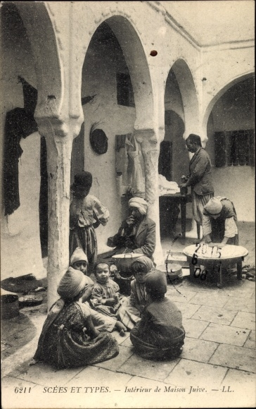 Ak Scènes et Types, Intérieur de Maison Juive, Jüdisches Haus ...