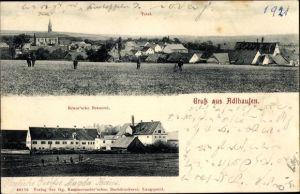 Ak Adlhausen Langquaid Niederbayern, Totalansicht vom Ort, Kraus'sche Brauerei