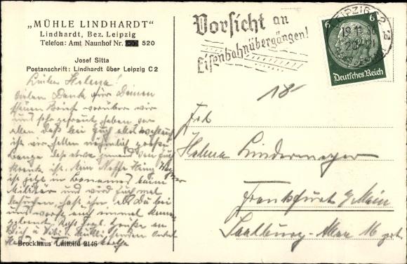 Ak Lindhardt Naunhof im Kreis Leipzig, Fliegeraufnahme der Mühle Lindhardt mit Umgebung 1