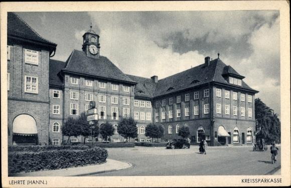Ak Lehrte in Niedersachsen, Kreissparkasse, Außenansicht