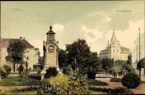 Ak Gotha im Thüringer Becken, Blick auf den Arnoldiplatz