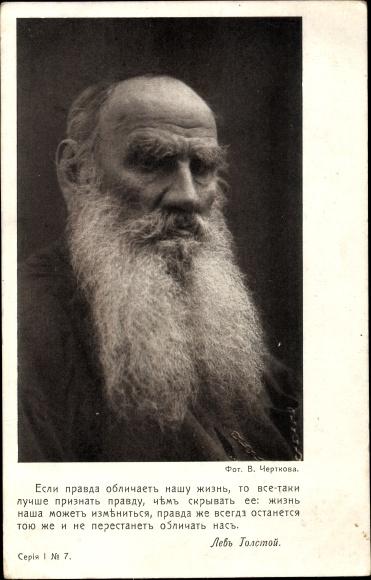 Ak Russischer Schriftsteller Lew Nikolajewitsch Tolstoi, Portrait