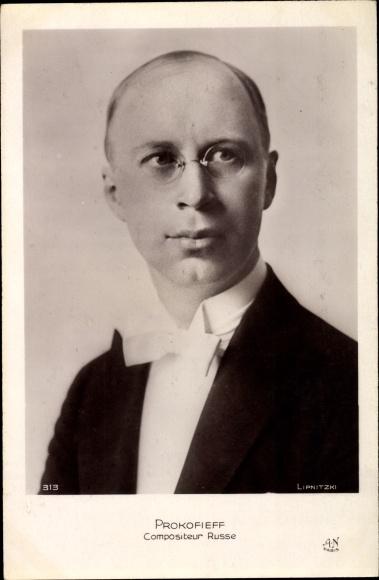 Ak Russischer Komponist Sergei Sergejewitsch Prokofjew, Portrait