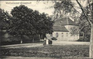 Ak Gravenbruch Neu Isenburg im Kreis Offenbach Hessen, Waldrestaurant