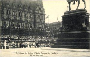 Ak Hamburg Mitte Altstadt, Enthüllung des Kaiser Wilhelm Denkmal 20.06.1903