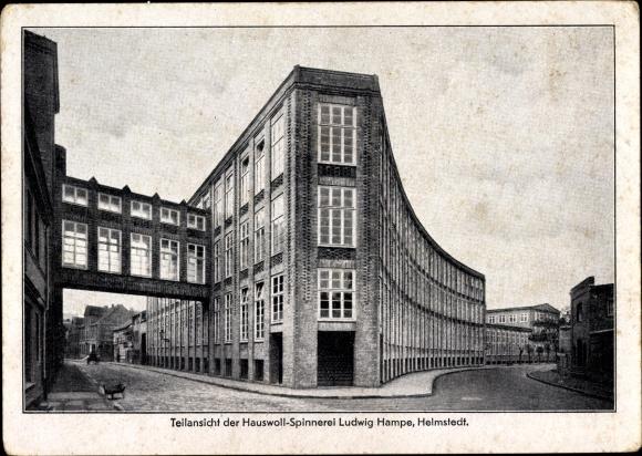 Ak Helmstedt in Niedersachsen, Teilansicht der Hauswoll Spinnerei Ludwig Hampe
