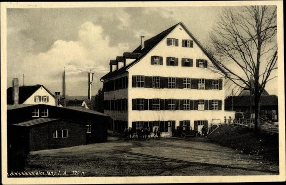 Ak Isny im Allgäu Baden Württemberg, Schullandheim, Außenansicht