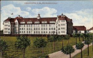 Ak Ludwigshafen am Rhein Rheinland Pfalz, Blick auf die Pestalozzischule