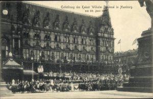 Ak Hamburg Mitte Altstadt, Enthüllung des Kaiser Wilhelm Denkmal 1903, Parade