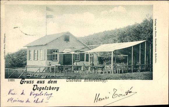 Ak Breungeshain Schotten im Vogelsbergkreis Hessen, Clubhaus Hoherodskopf