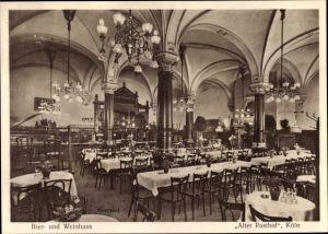 Ak Köln am Rhein, Bier- und Weinhaus, Alter Posthof, Inh. W. Schulte, Kreuzgasse 26