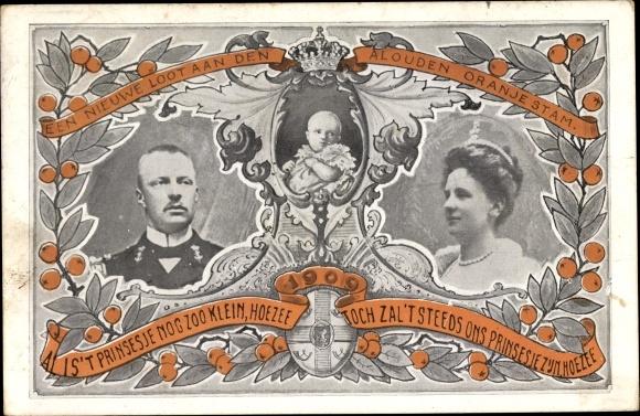 Passepartout Ak Königin Wilhelmina der Niederlande, Prinz Hendrik der Niederlande, Juliana