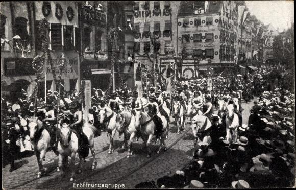 Ak Nürnberg in Mittelfranken Bayern, 8. Deutsches Sängerbundesfest 1912, Eröffnungsgruppe