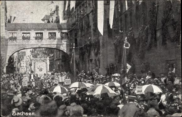 Ak Nürnberg in Mittelfranken Bayern, 8. Deutsches Sängerbundesfest, 28. Juli 1912