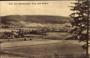 Ak Wilthen im Kreis Bautzen Sachsen, Blick vom Mönchswalder Berg