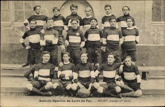 Ak Haute Loire, Amicale Sportive du Lycée du Puy, Rugby, Equipe 2me 1910
