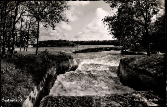 Ak Quakenbrück in Niedersachsen, Landschaftsblick, Am Schützenhof, Fluss