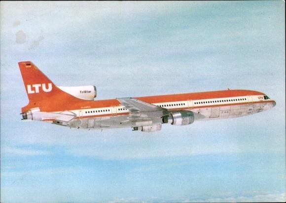 Ak Deutsches Passagierflugzeug der LTU, Lockheed L-1011 TriStar, D-AERA