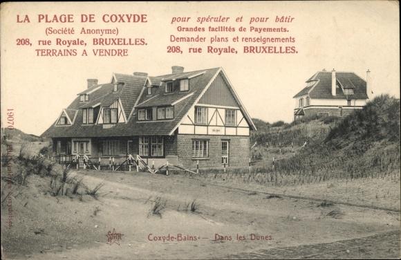 Ak Coxyde Bains Westflandern, Dans les Dunes, Villa Emily