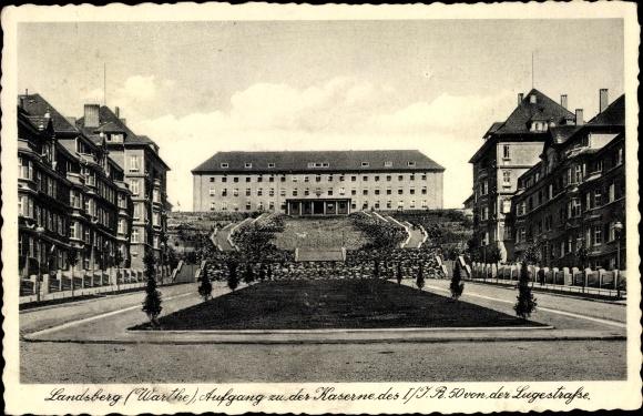 Ak Gorzów Wielkopolski Landsberg Warthe Ostbrandenburg, Kaserne des Inf. Regt. Nr. 50, 1. Komp.