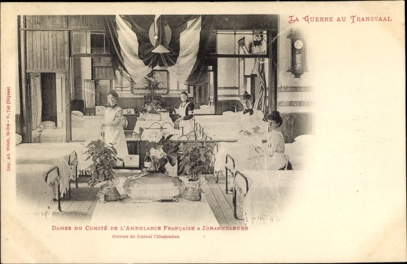 Ak Johannesburg Südafrika, Dames du Comité de l'Ambulance Française, Burenkrieg, Krankenschwestern