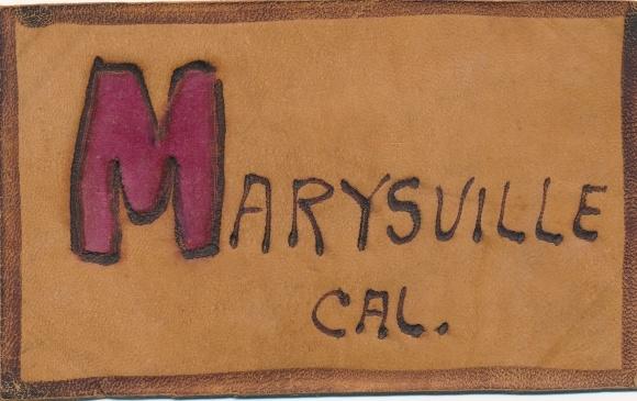 Leder Ak Marysville Kalifornien USA, Ortsname