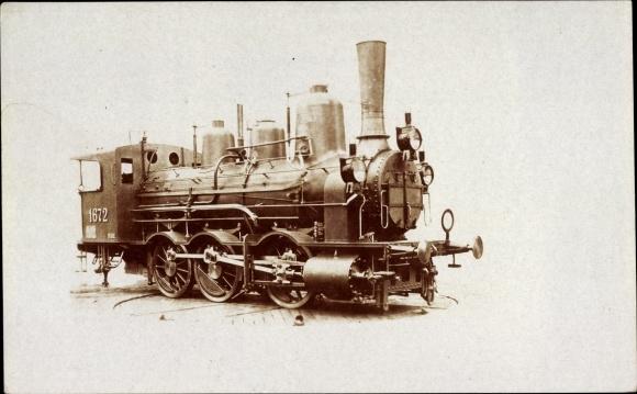 Foto Ak Österreichische Eisenbahn, Dampflokomotive, 1672