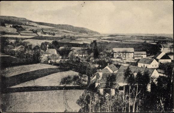 Ak Horní Hoštice Obergostitz Javorník Jauernig Reg. Olmütz, Blick auf Ortschaft und Umgebung