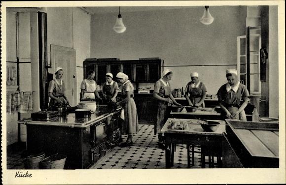 Ak Gohfeld Löhne in Westfalen, Landfrauenschule der Westf. Frauenhilfe, Köchinnen, Küche