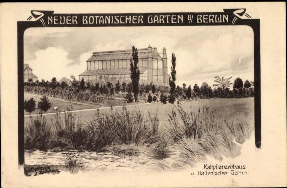 Künstler Ak Jander, Carl, Berlin Steglitz Lichterfelde, Neuer Botanischer Garten, Kaltpflanzenhaus