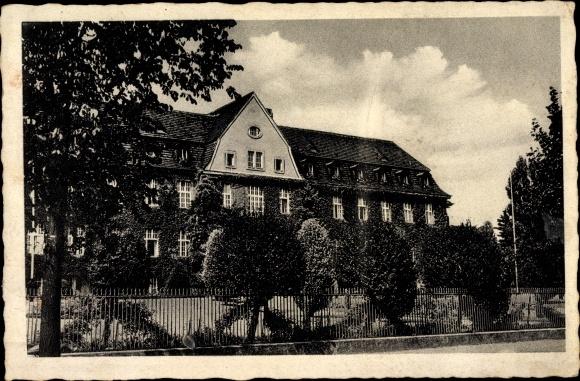Ak Bernau bei Berlin, Das Kreiskrankenhaus, Gartenansicht