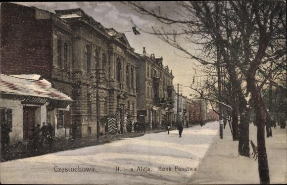 Ak Częstochowa Tschenstochau Schlesien, IIa Aleja, Bank Panstwa