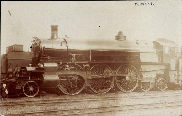Foto Ak Österreichische Eisenbahn, Dampflokomotive,