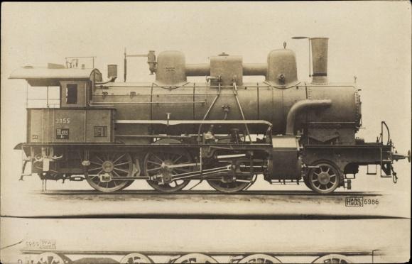 Foto Ak Österreichische Eisenbahn, Dampflokomotive, 3855