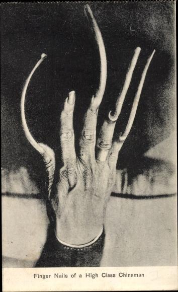 Ak China, Finger Nails of a High Class Chinaman, Lange Fingernägel