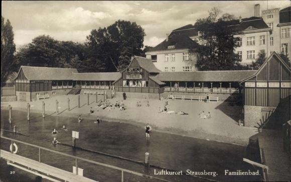 Ak Strausberg im Kreis Märkisch Oderland, Familienbad