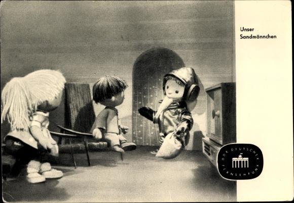 Ak Unser Sandmännchen als Raumfahrer, Kinder, DDR Deutscher Fernsehfunk, S 30/64