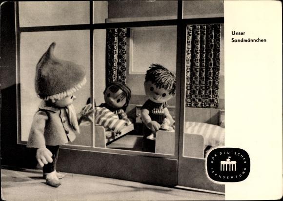 Ak Unser Sandmännchen, Kinder gehen zu Bett, DDR Deutscher Fernsehfunk, S 19/63
