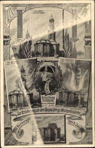 Künstler Ak Hamburg, Erinnerung an den Brand der großen Michaeliskirche am 3. Juli 1906