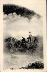 Ak Guadeloupe, La Soufrière, Les Cratères de l'Echelle
