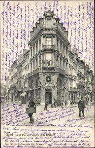 Ak Gent Ostflandern, Les Rue de Flandre et de Brabant, Straßenansicht
