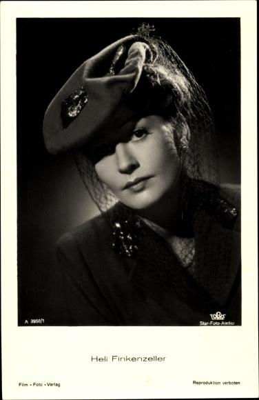 Ak Schauspielerin Heli Finkenzeller, Portrait, Tobis Film