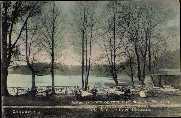 Ak Strausberg Kreis Märkisch Oderland, Restaurant Alte Spitzmühle, Inh. Heinrich Reinicke, Bötzsee