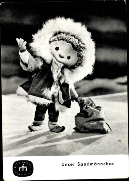 Ak Unser Sandmännchen, Sandmann, DDR Kinderfernsehen, Winterkleidung, S 49/65